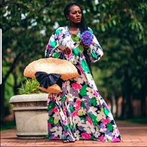 H&m floral kaftan dress